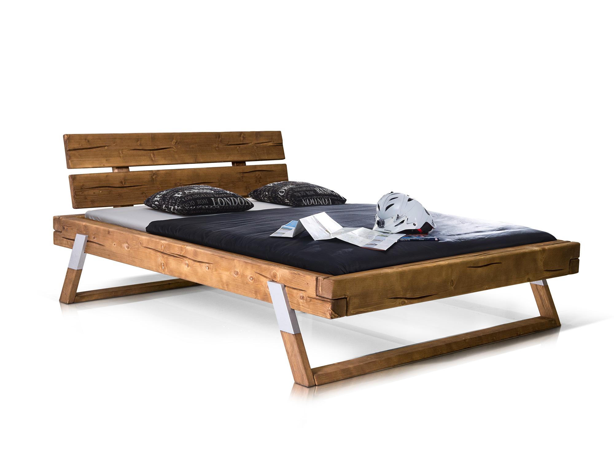 tyler massivholzbett fichte eichefarben 160x200 cm. Black Bedroom Furniture Sets. Home Design Ideas