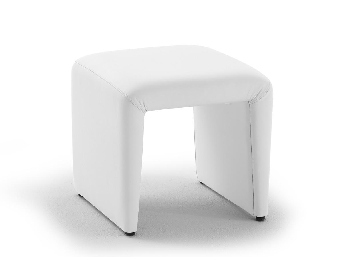 ira hocker kunstlederbezug weiss. Black Bedroom Furniture Sets. Home Design Ideas