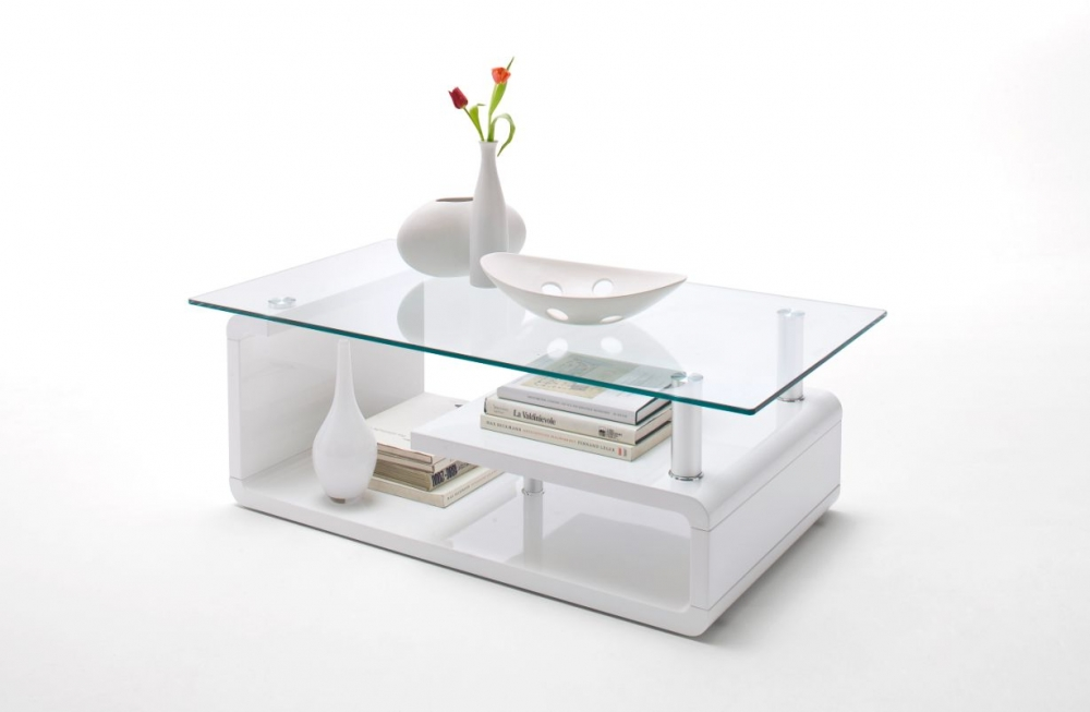 Couchtisch wei mit glasplatte for Designer couchtisch glasplatte