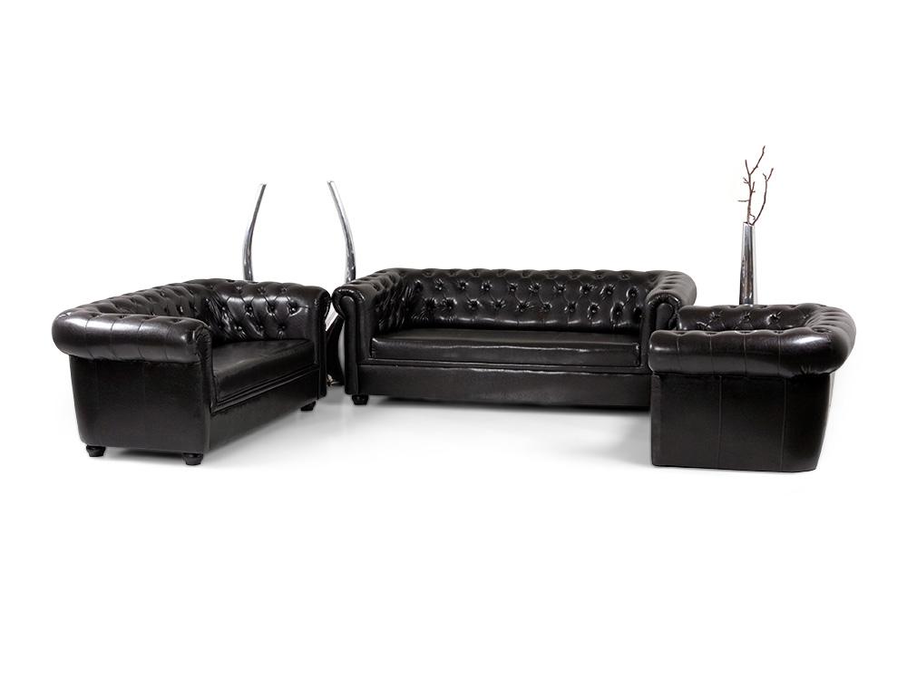 chesterfield 3 2 1 sofagarnitur antikbraun. Black Bedroom Furniture Sets. Home Design Ideas