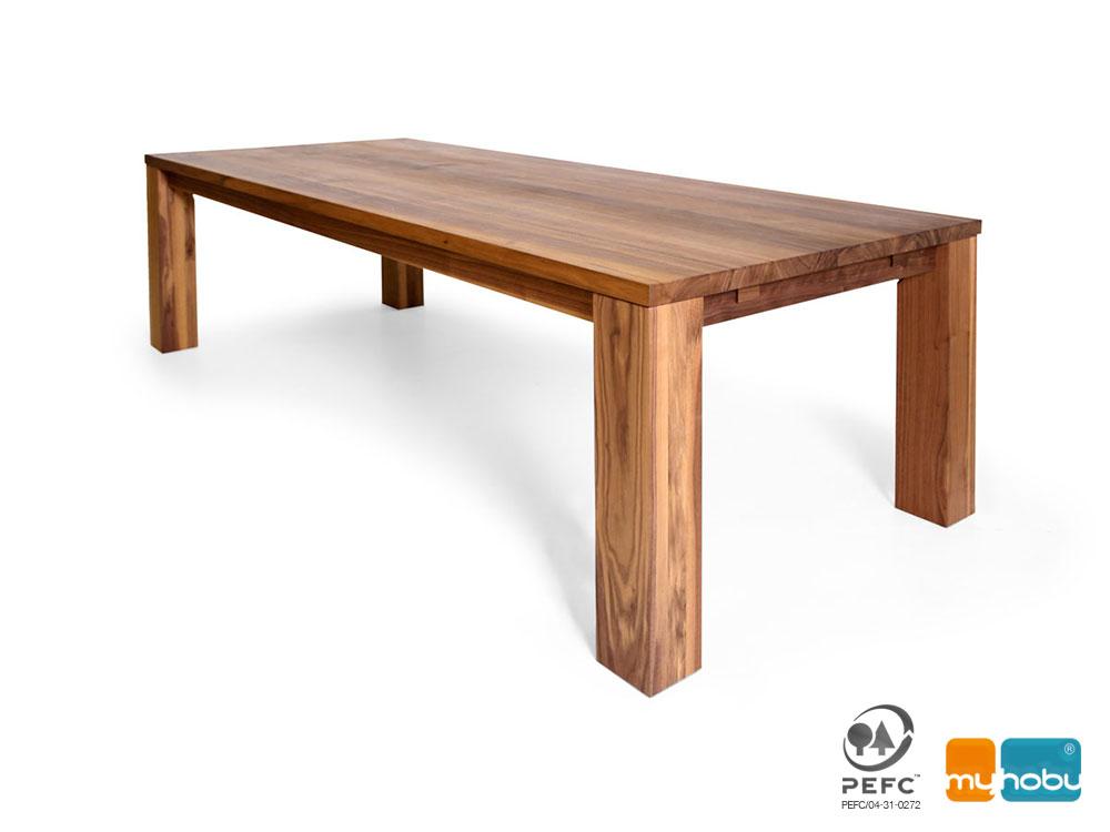 Esstisch Massivholz Sumpfeiche : GENUA Maßtisch Esstisch nach Maß aus Massivholz