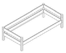 yogi einzelbett kinderbett 90x200 buche. Black Bedroom Furniture Sets. Home Design Ideas