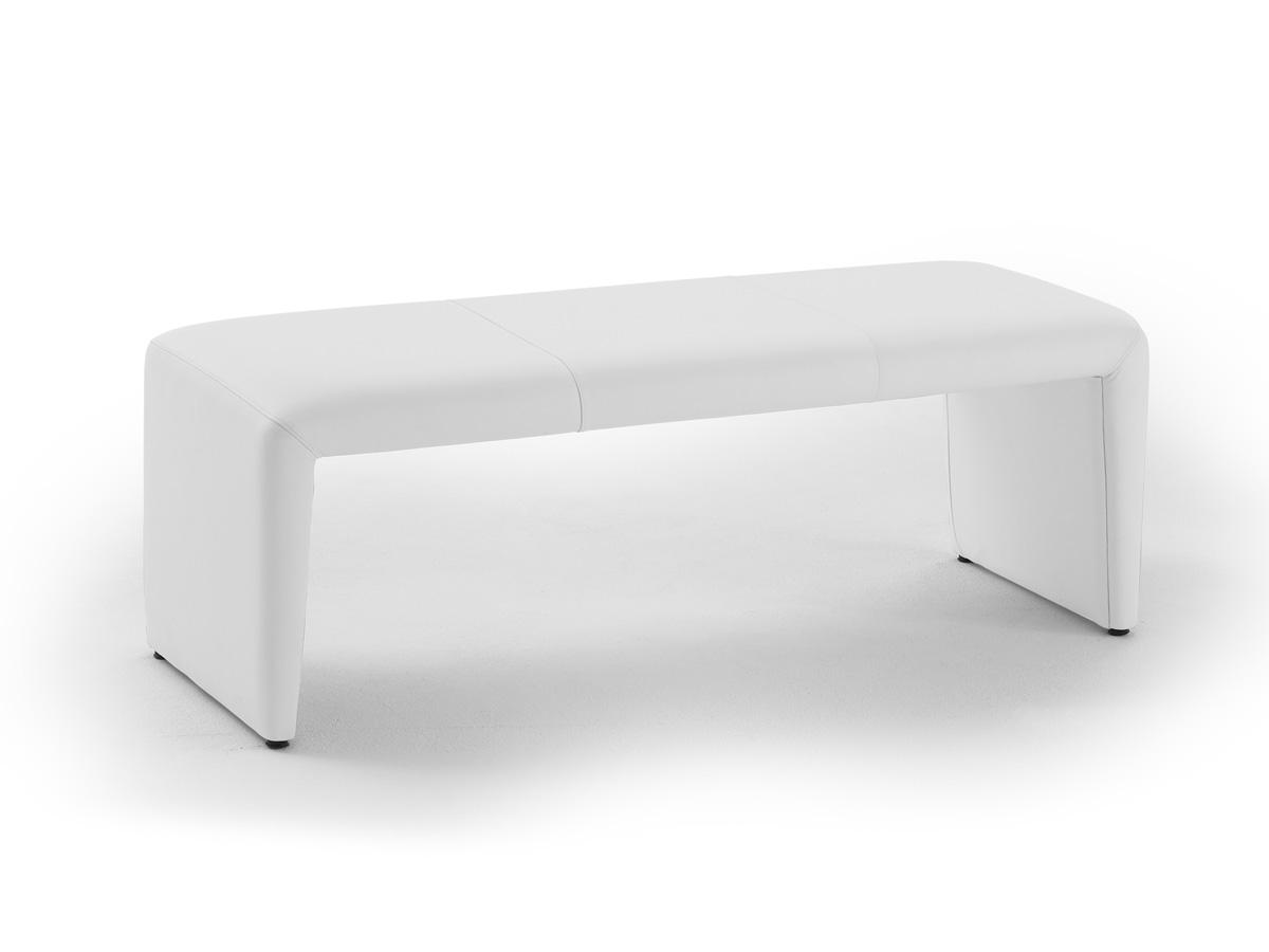 ira sitzbank kunstleder ohne r cken 140 cm weiss. Black Bedroom Furniture Sets. Home Design Ideas