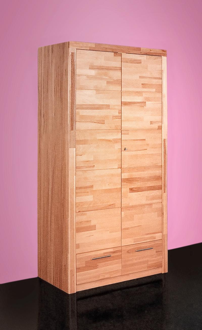 simea kleiderschrank 2 trg kernbuche. Black Bedroom Furniture Sets. Home Design Ideas