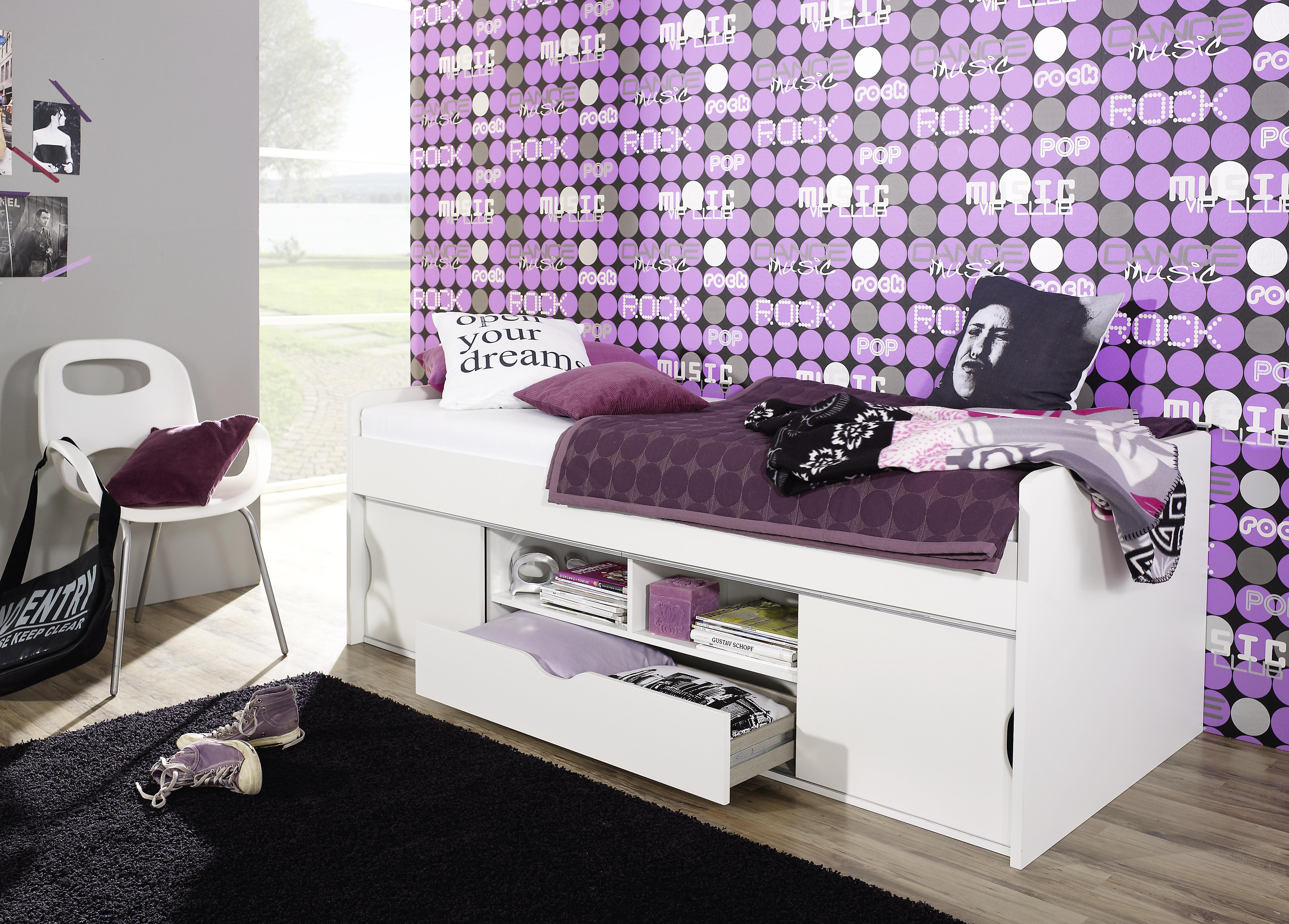 POLDI Funktionsbett  /  Jugendbett in 4 Farbvarianten