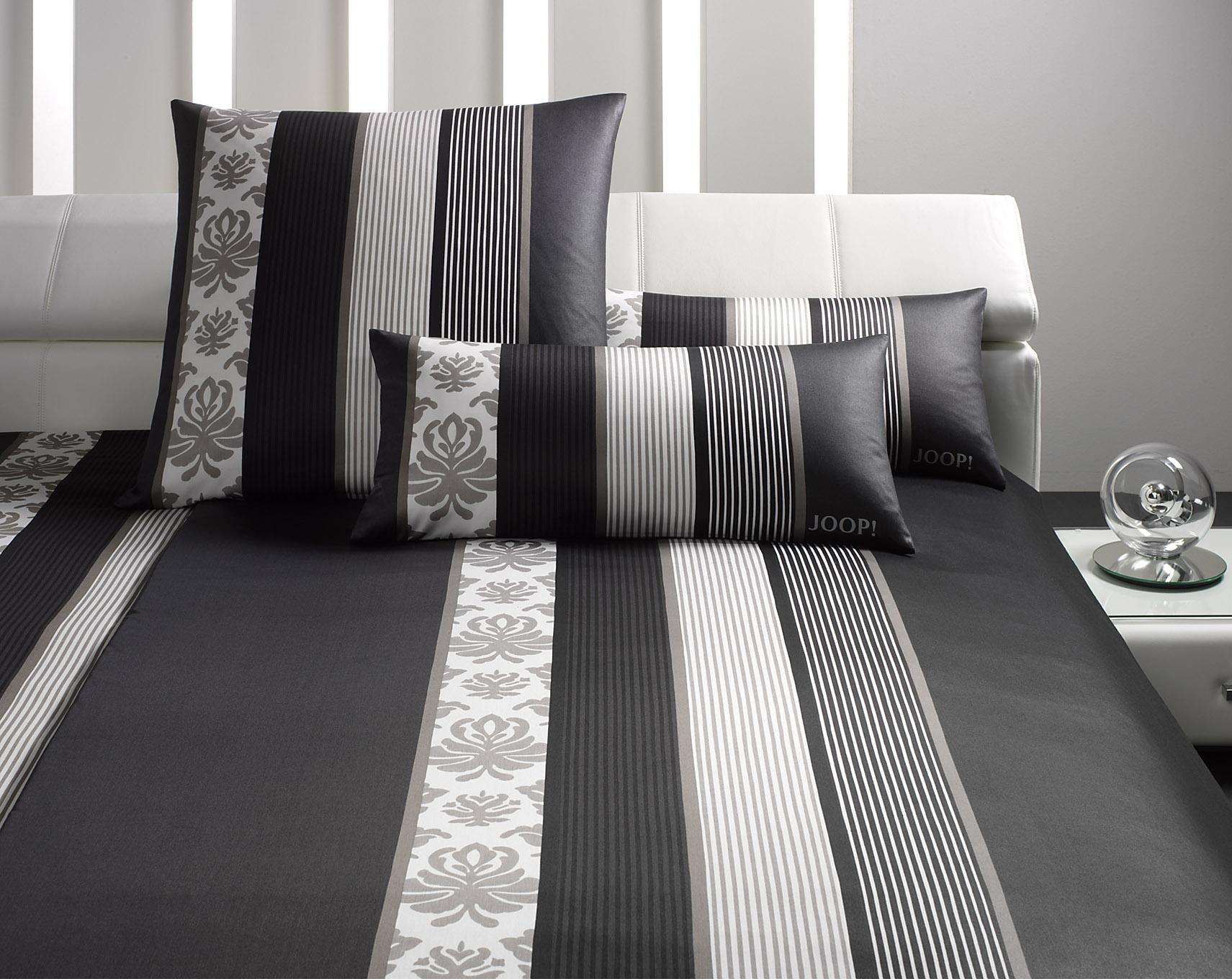 Möbel-Eins JOOP! Bettwäsche Ornament stripe schwarz 4022-9 in 2 Größen