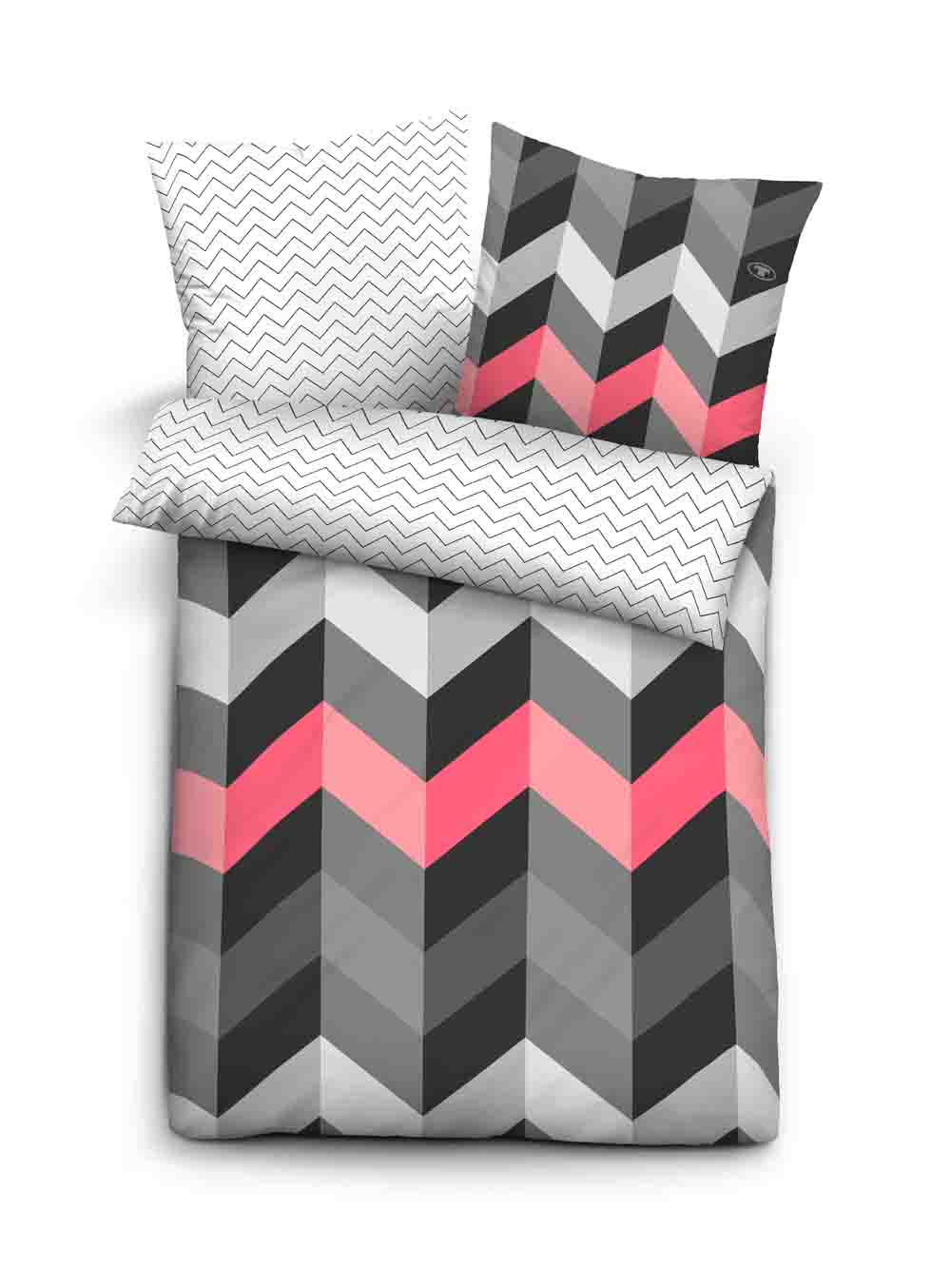 tom tailor satin bettw sche 135x200 cm grau rosa. Black Bedroom Furniture Sets. Home Design Ideas