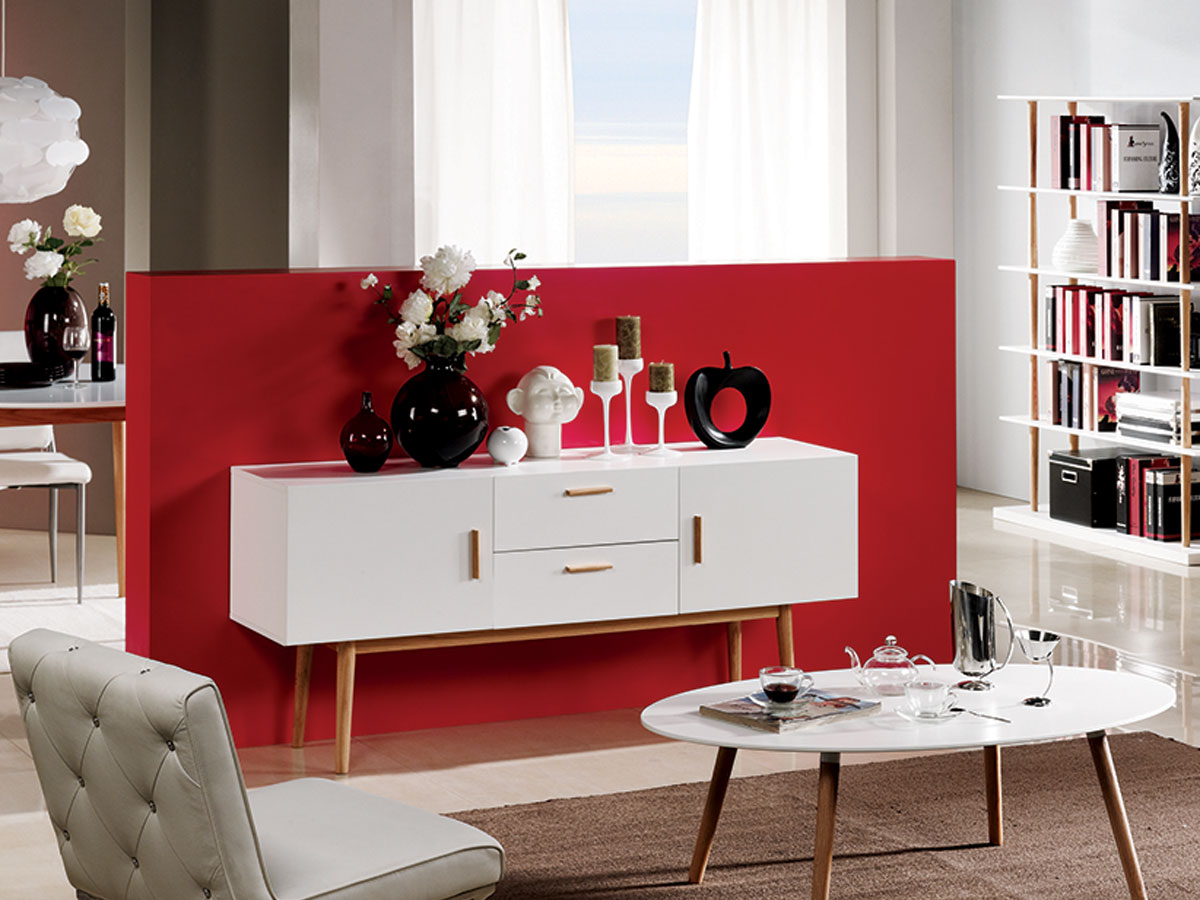 sideboard weiss eiche g nstig kaufen. Black Bedroom Furniture Sets. Home Design Ideas