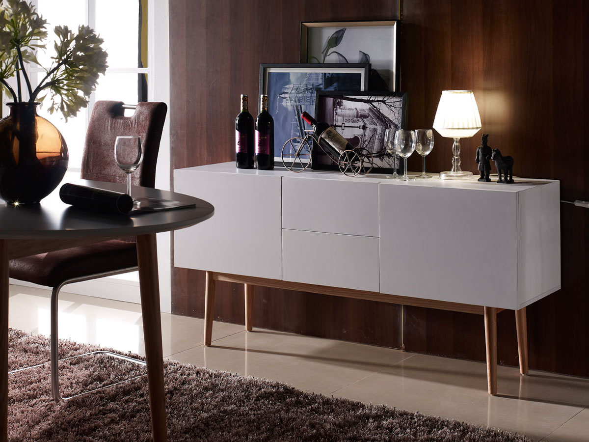 m bel eins meran ii sideboard wei eiche massiv. Black Bedroom Furniture Sets. Home Design Ideas