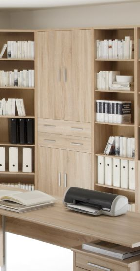 office line schrank 4 t ren 2 sk eiche sonoma. Black Bedroom Furniture Sets. Home Design Ideas
