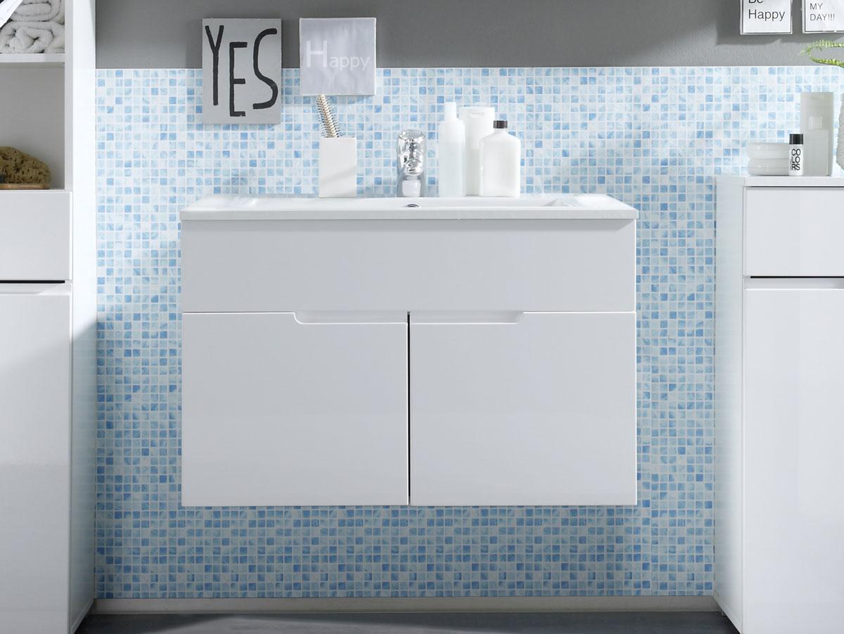 sandra waschtisch mit becken wei. Black Bedroom Furniture Sets. Home Design Ideas