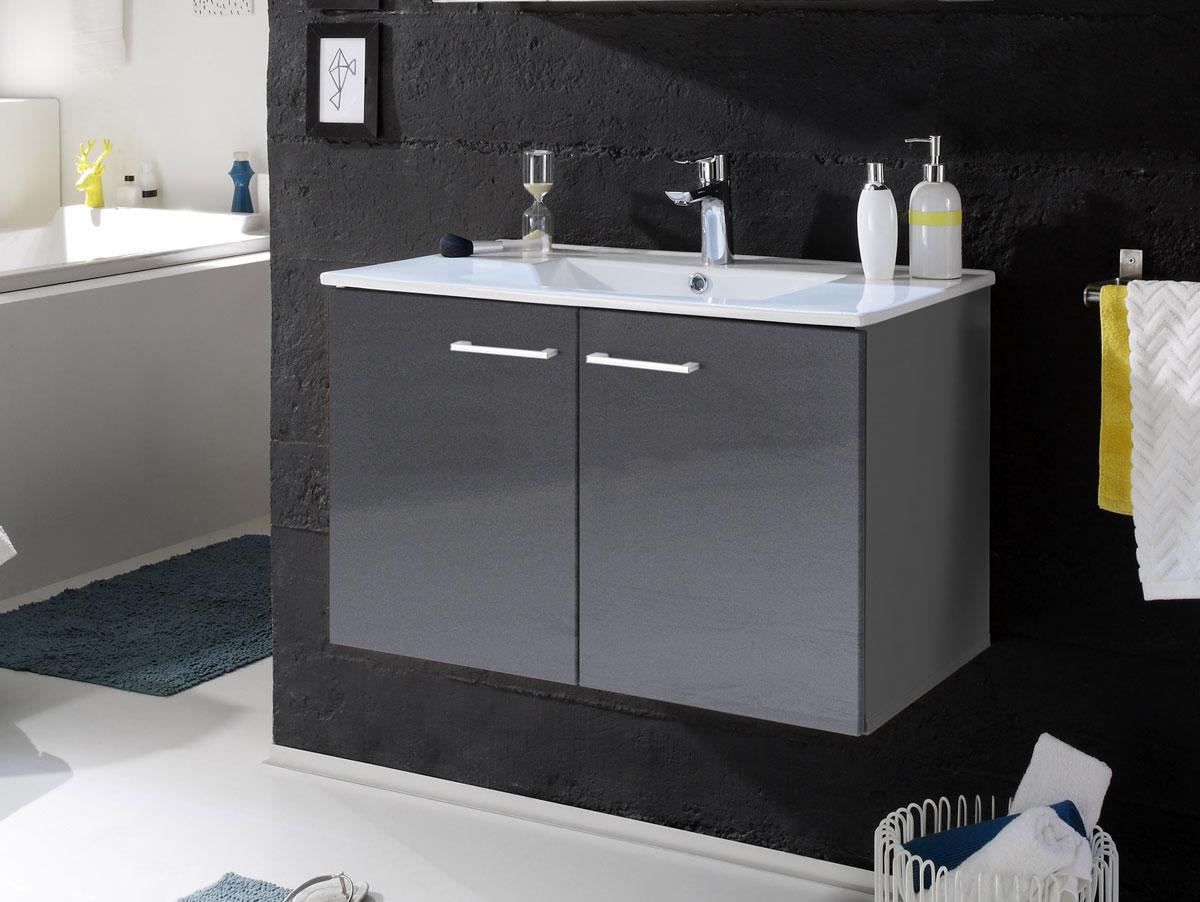 slot waschtisch inkl becken mit zwei t ren grau. Black Bedroom Furniture Sets. Home Design Ideas