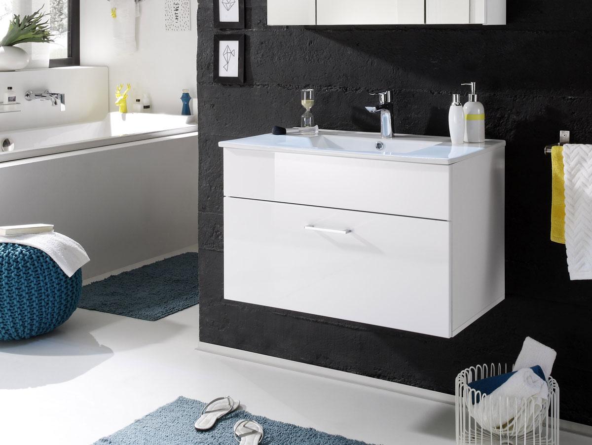 slot waschtisch inkl becken mit einer schublade weiss. Black Bedroom Furniture Sets. Home Design Ideas