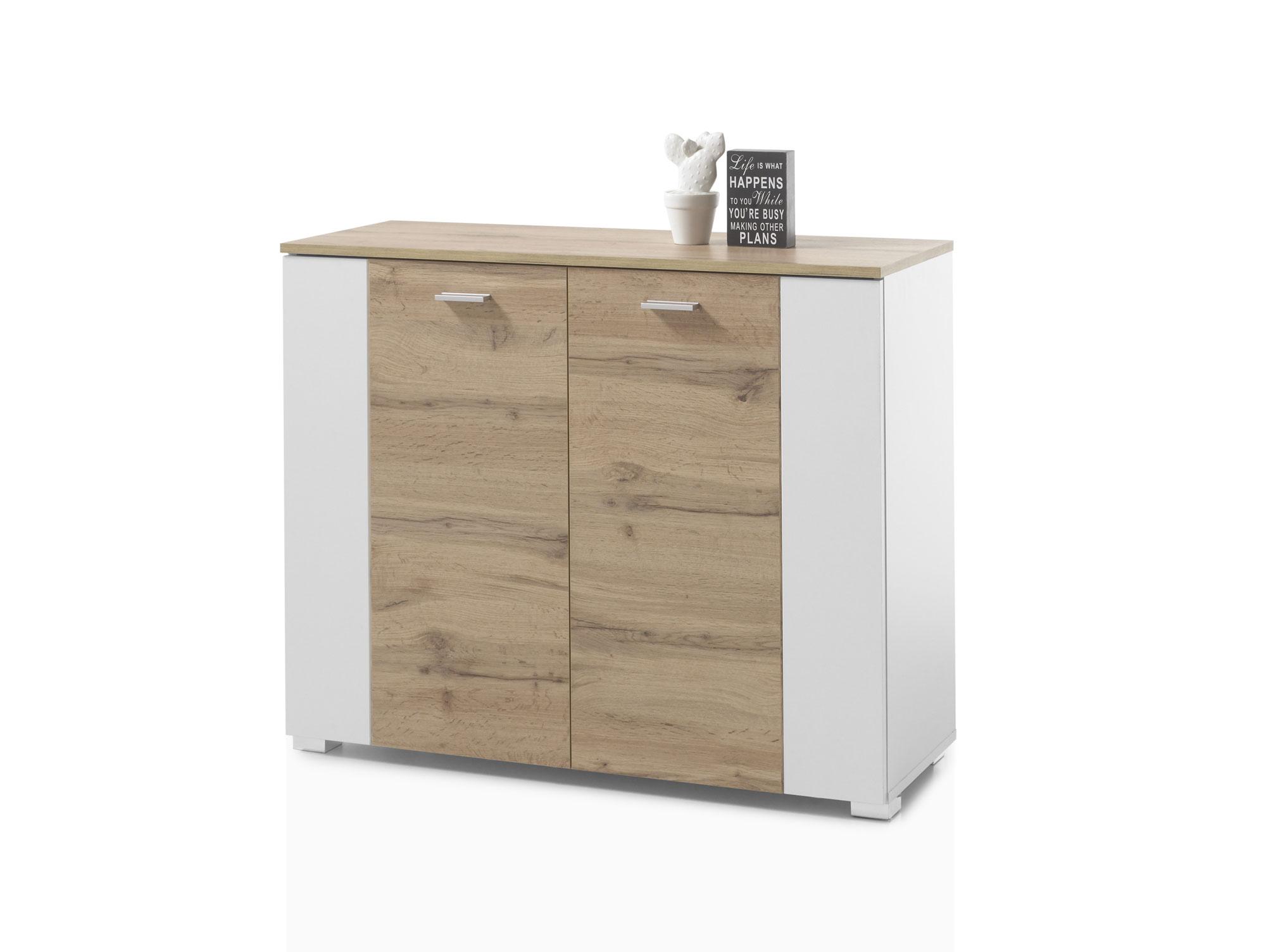 valeria i kommode wei wildeiche. Black Bedroom Furniture Sets. Home Design Ideas