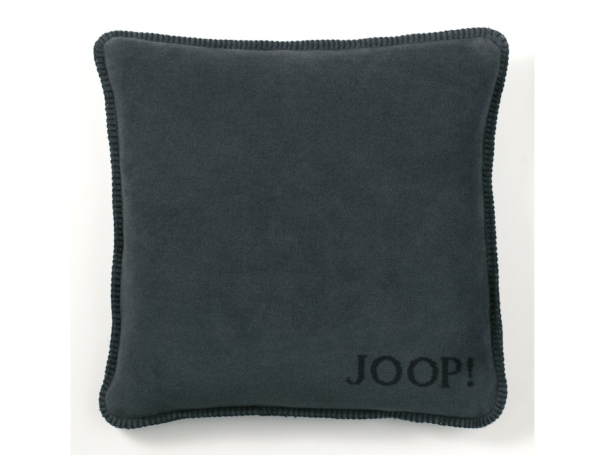 joop uni doubleface kissen mit f llung schwarz anthrazit. Black Bedroom Furniture Sets. Home Design Ideas