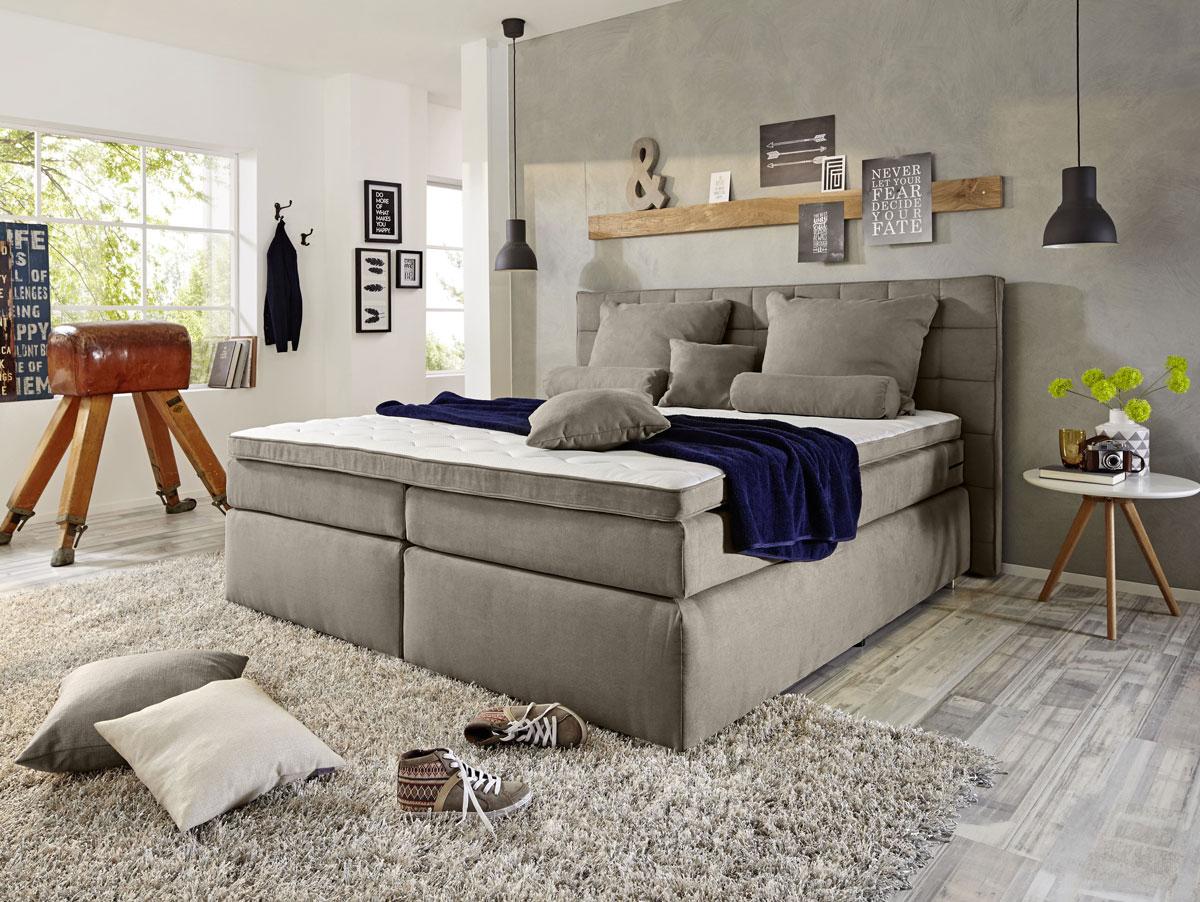 imperium boxspringbett 180x200 cm h rtegrad 3 schlamm. Black Bedroom Furniture Sets. Home Design Ideas