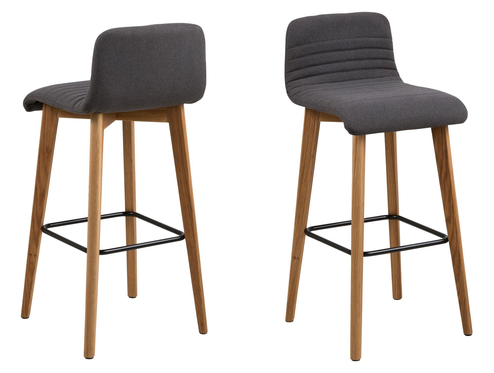 adelia barhocker eiche stoff granada anthrazit 08. Black Bedroom Furniture Sets. Home Design Ideas