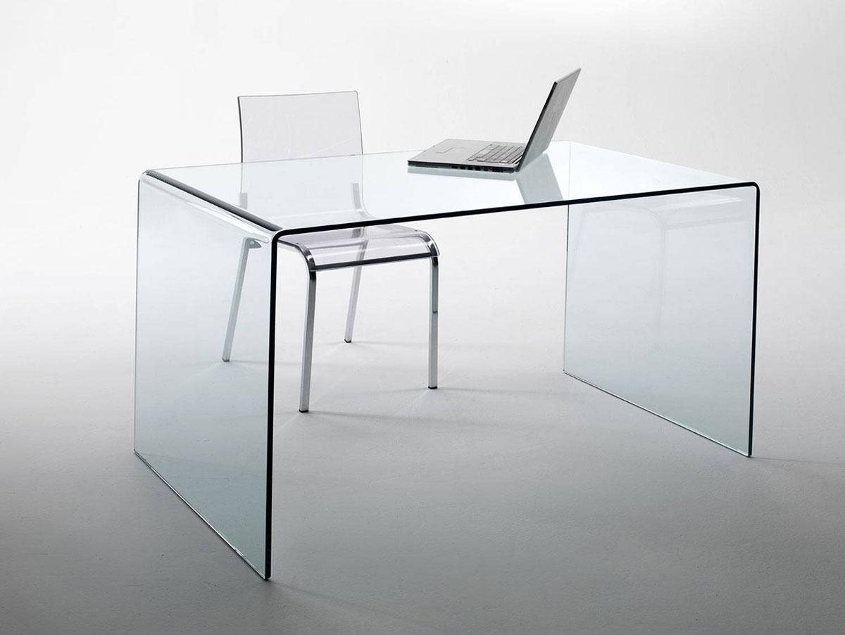 Designermöbel schreibtisch  CHANDRA Schreibtisch Glas