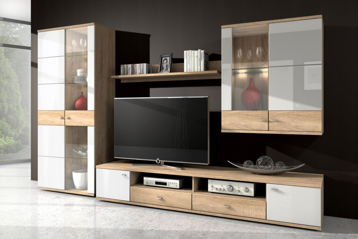 wohnw nde aus eiche sch ne m bel online kaufen seite 4. Black Bedroom Furniture Sets. Home Design Ideas