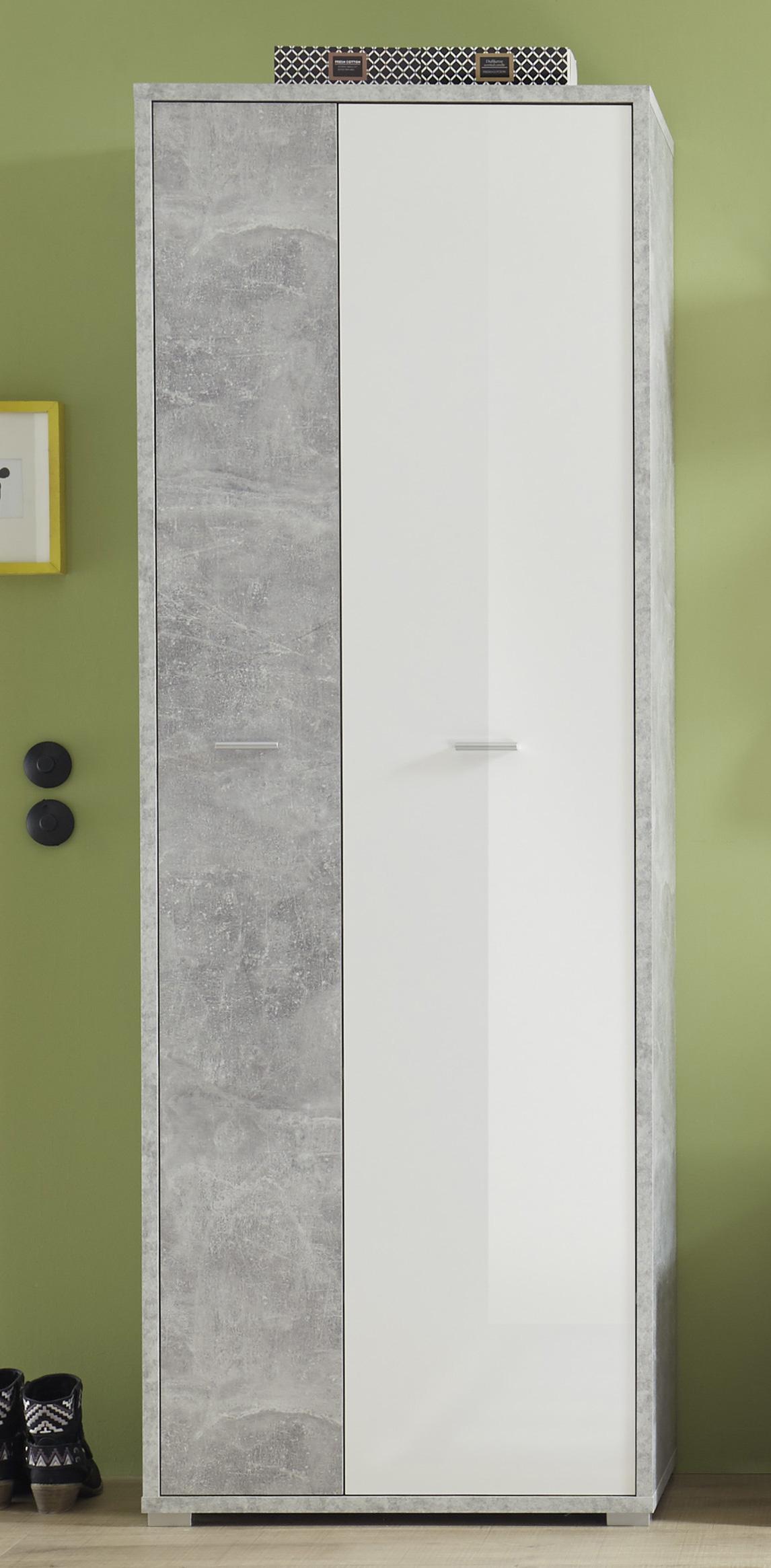Brilliant Garderobenschrank Weiß Beste Wahl