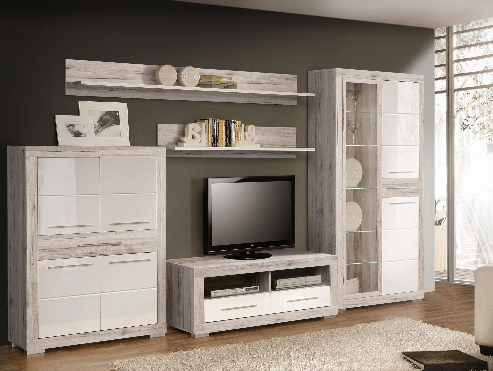 Schrankwand wei hochglanz excellent moderne wohnwand weis - Wohnwand aus paletten ...