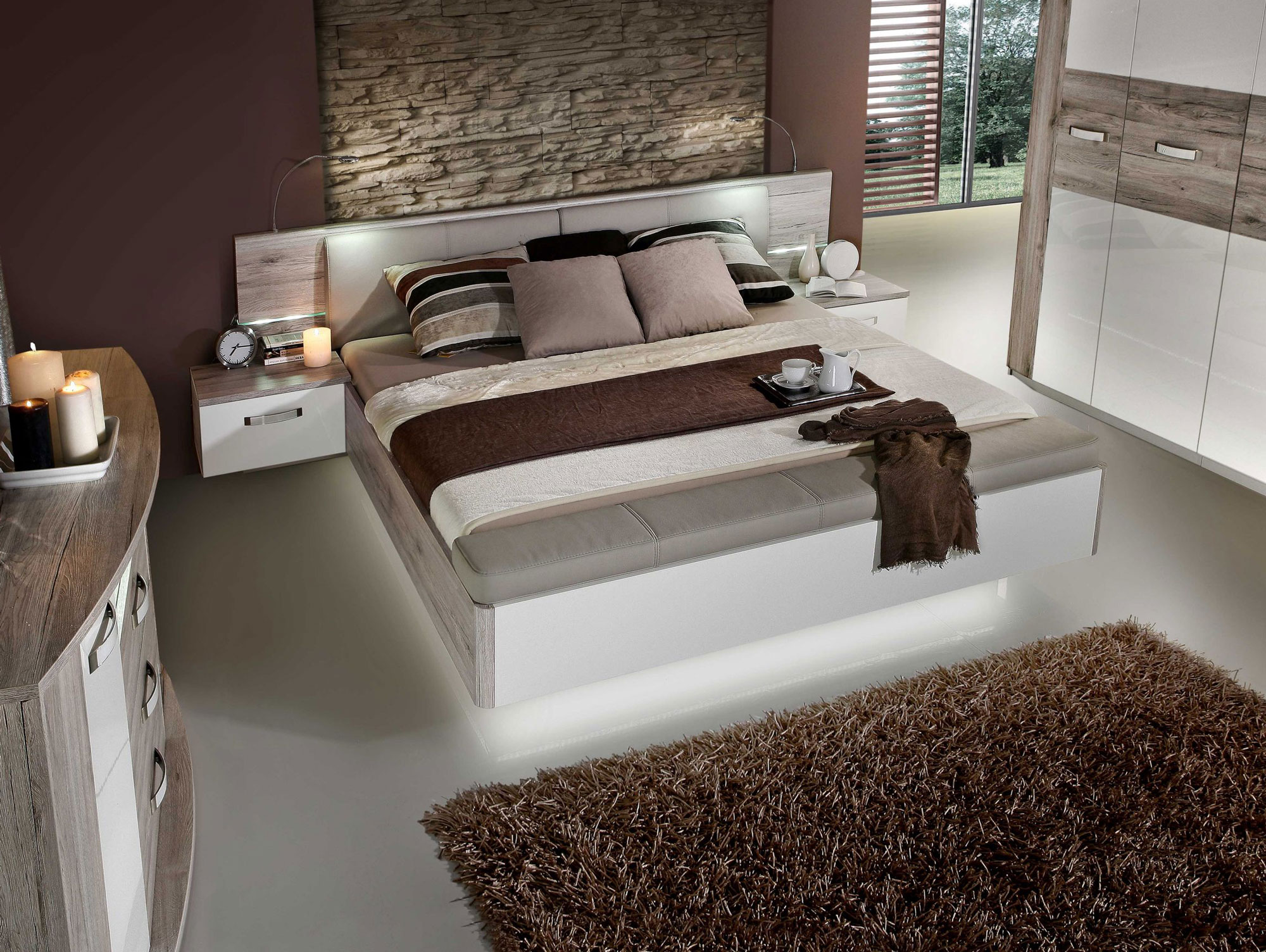 romana bettanlage 180x200 cm sandeiche weiss mit bettbank. Black Bedroom Furniture Sets. Home Design Ideas