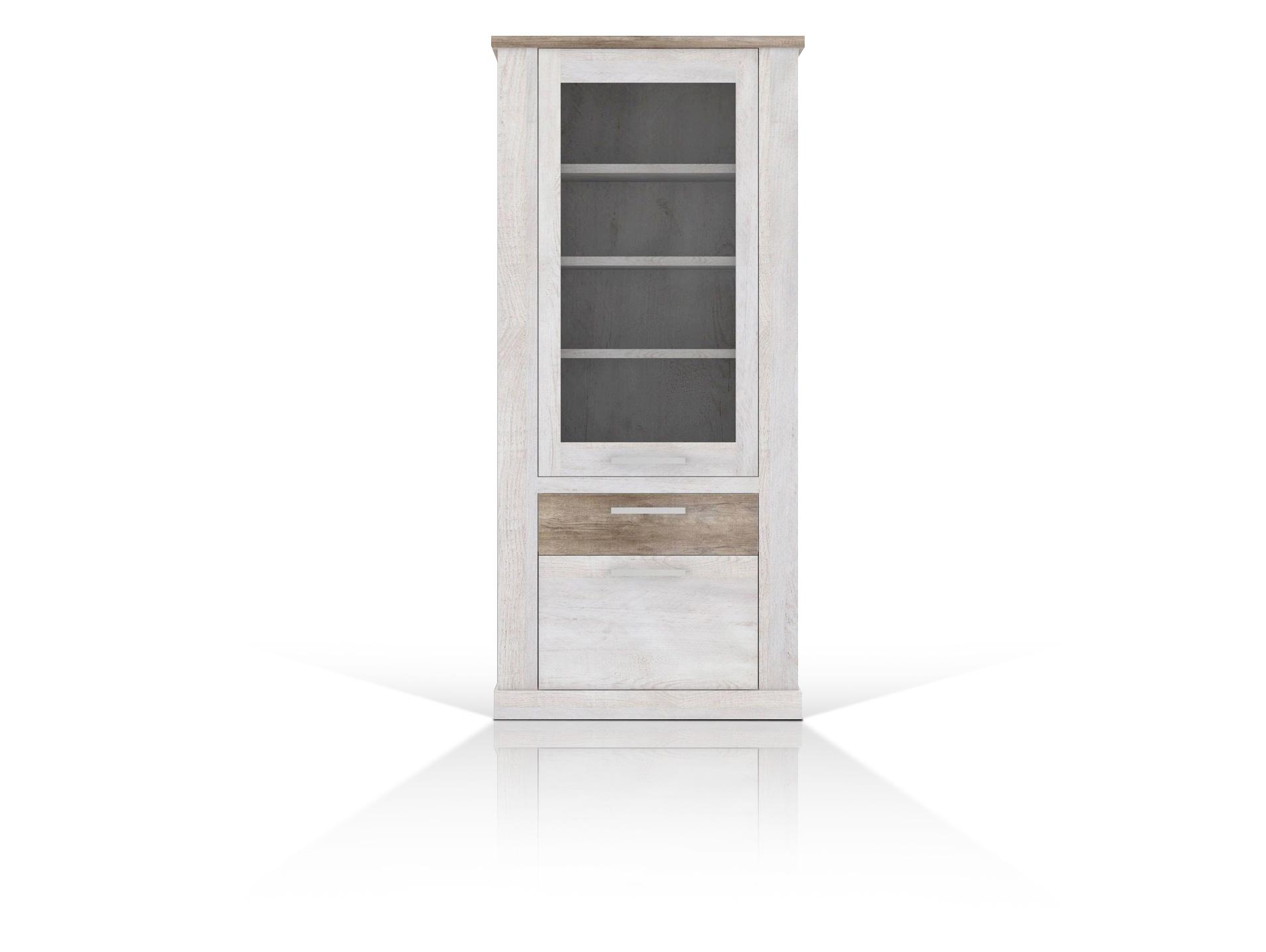 dagur vitrine pinie wei eiche antik. Black Bedroom Furniture Sets. Home Design Ideas