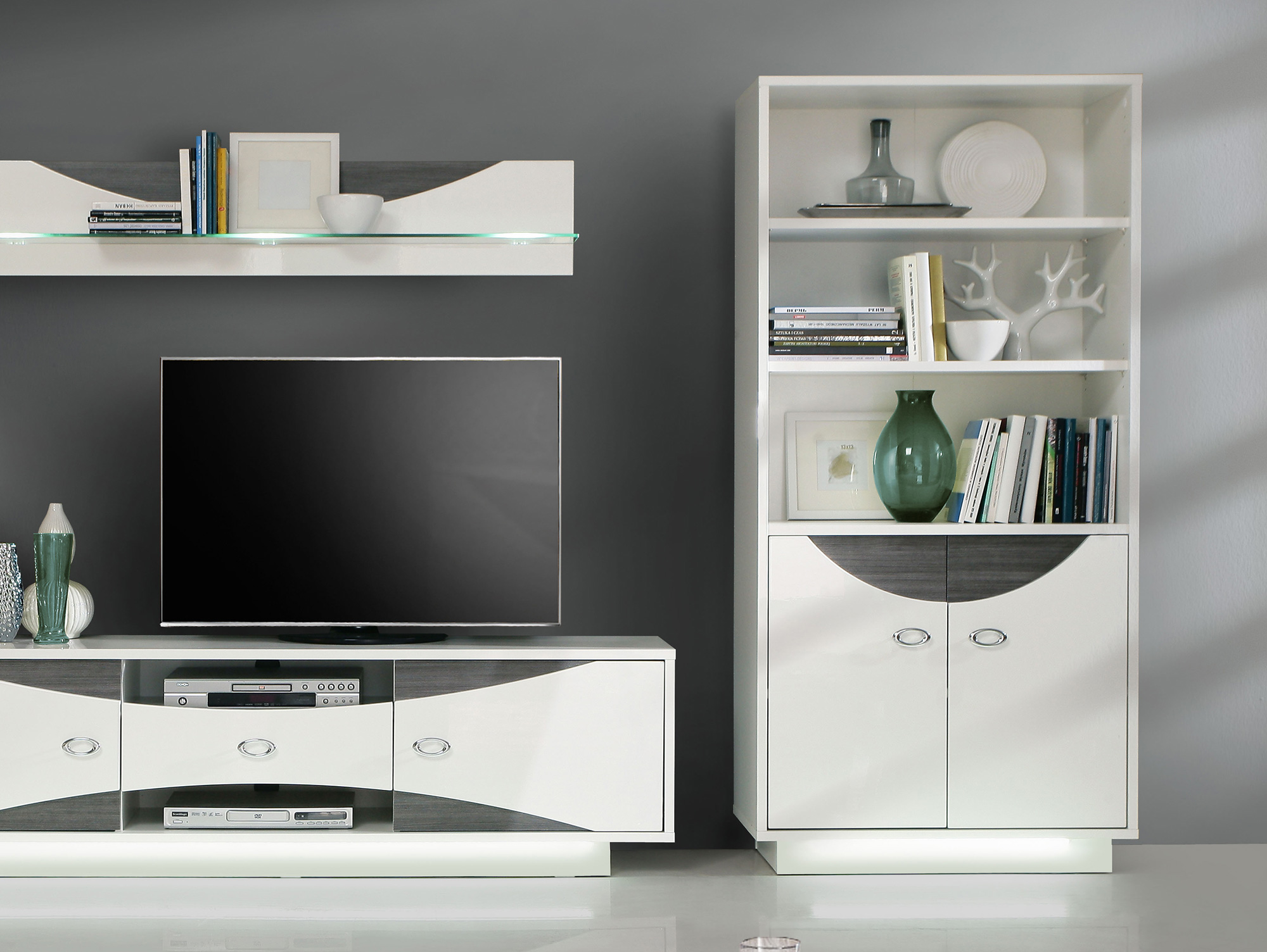 wanda regal wei eiche grau. Black Bedroom Furniture Sets. Home Design Ideas
