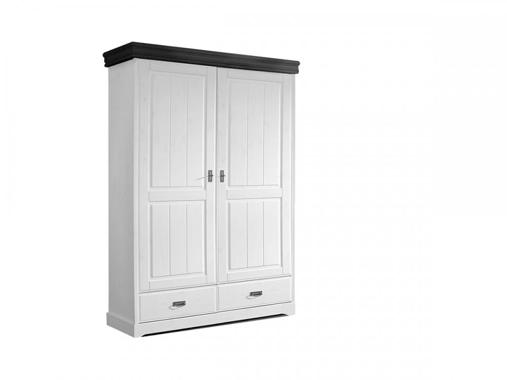 roman kleiderschrank dreht renschrank teilmontiert 2 t rig weiss colonial. Black Bedroom Furniture Sets. Home Design Ideas