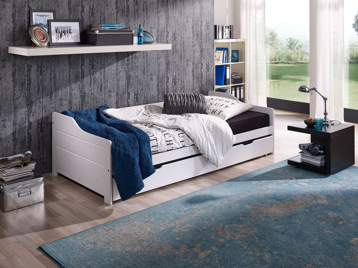 bett mit ausziehbett g nstig kaufen. Black Bedroom Furniture Sets. Home Design Ideas
