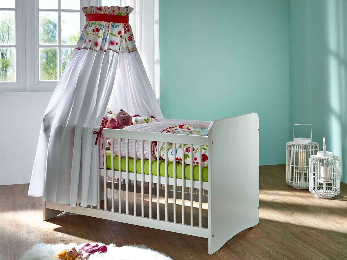 yogi babybett kiefer wei. Black Bedroom Furniture Sets. Home Design Ideas