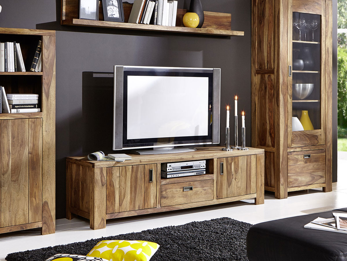 babylon i tv board sheesham gebeizt. Black Bedroom Furniture Sets. Home Design Ideas