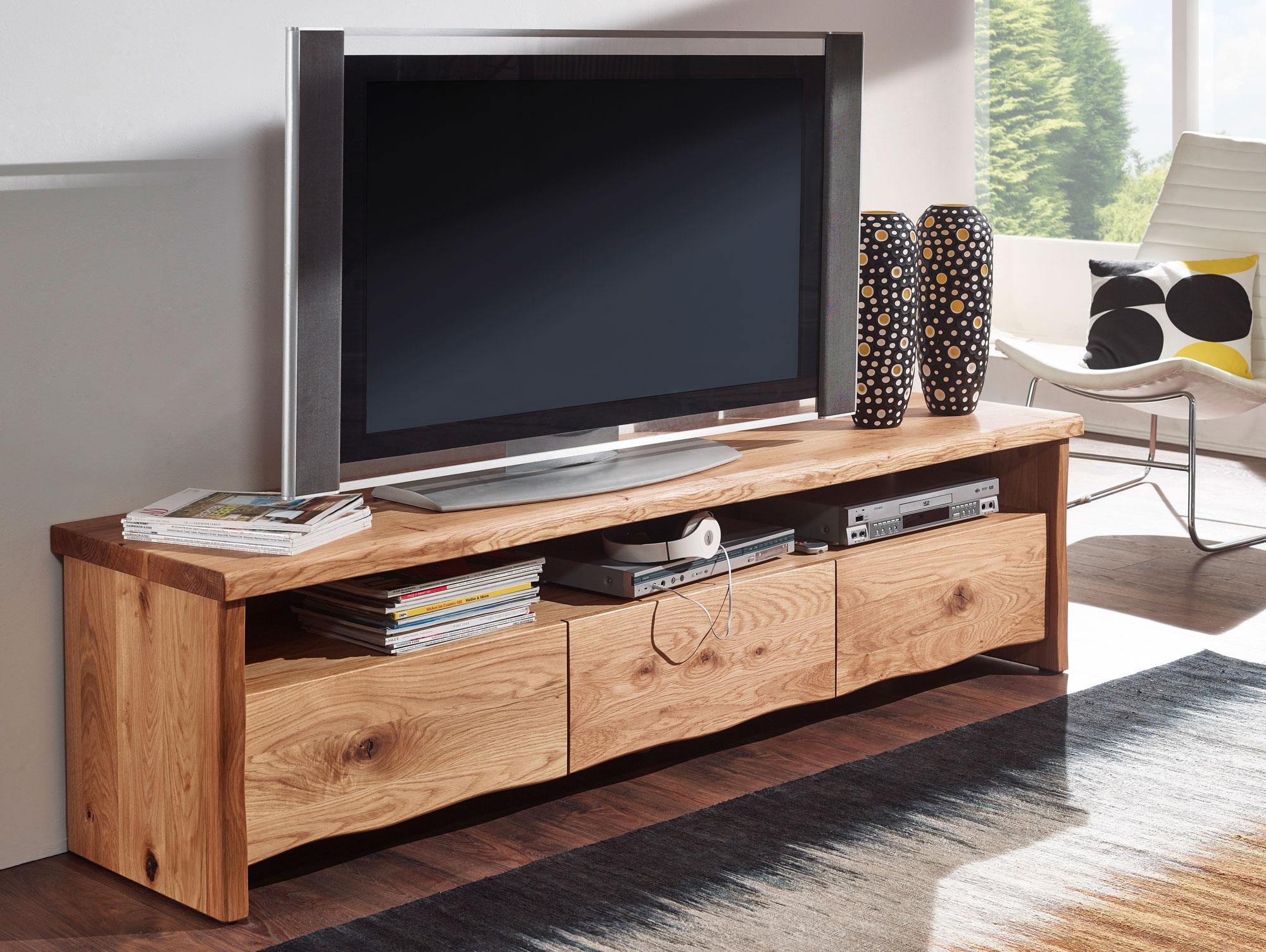 zelko tv element mit 3 sch ben wildeiche ge lt. Black Bedroom Furniture Sets. Home Design Ideas