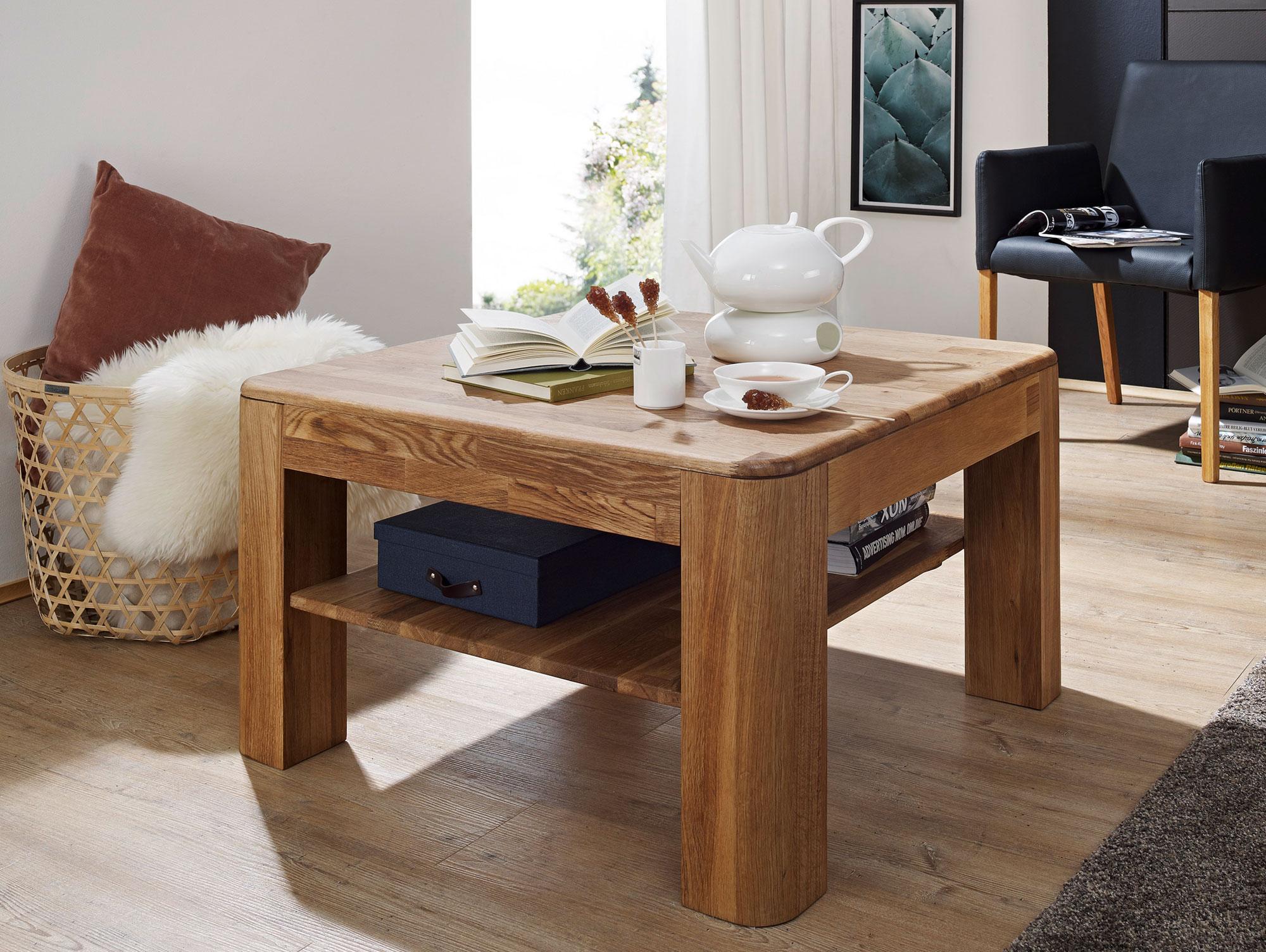 astoria couchtisch wildeiche massiv ge lt 80 x 80 cm. Black Bedroom Furniture Sets. Home Design Ideas