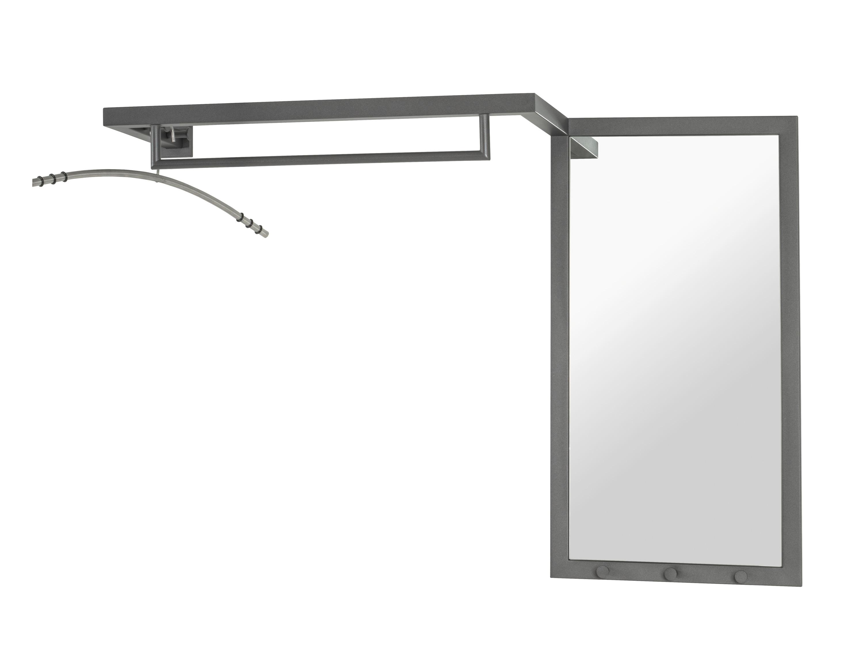 Super WELDO Wandgarderobe mit Spiegel anthrazit RX55