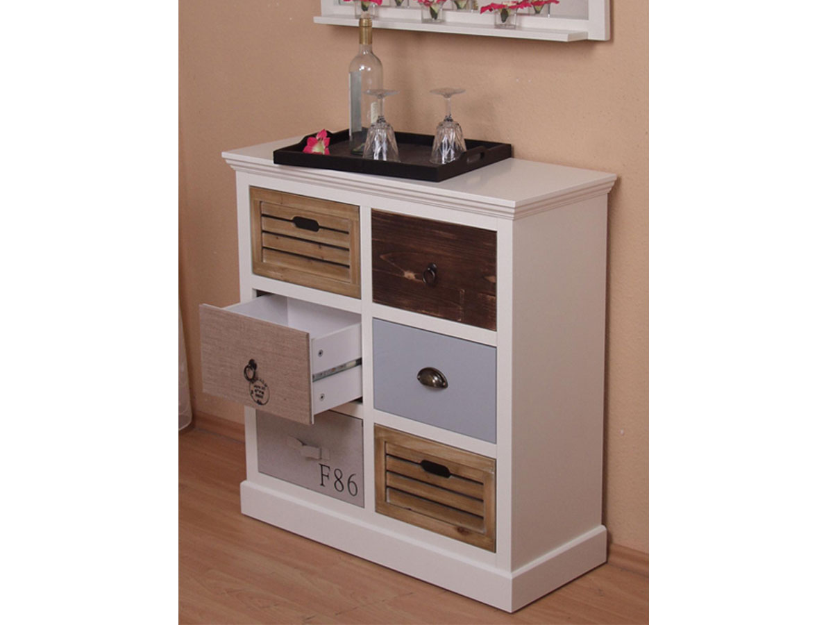 living kommode patchwork bunt g nstig kaufen. Black Bedroom Furniture Sets. Home Design Ideas