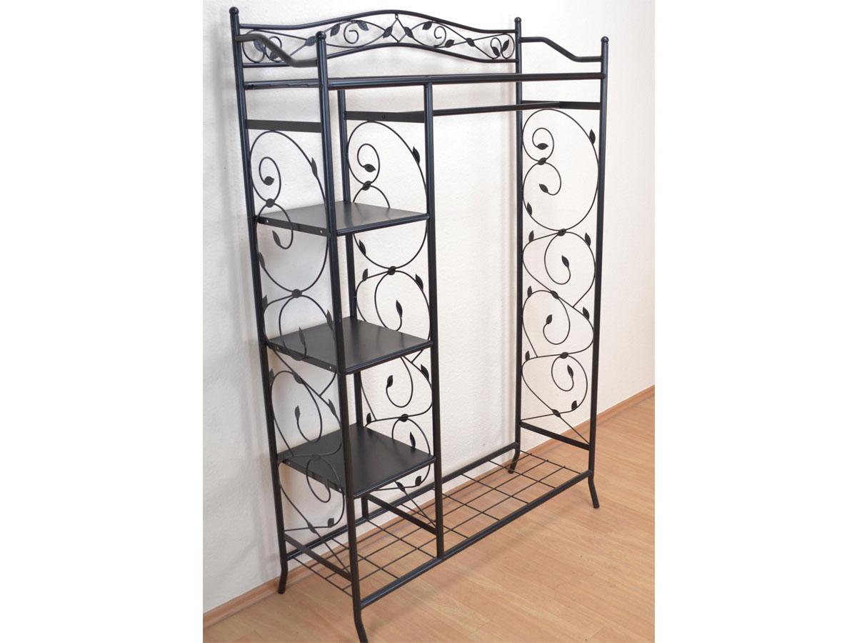 metallgarderobe pulverbeschichtet schwarz. Black Bedroom Furniture Sets. Home Design Ideas