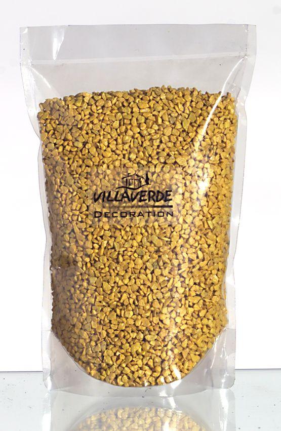 Dekogranulat / Dekosteine 2,5-4 mm gelb im 666ml Stehbeutel
