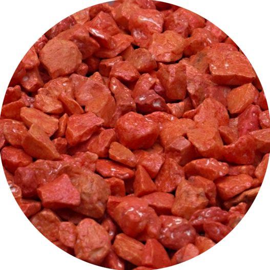 Dekogranulat / Dekosteine 2,5-4 mm orange im 666ml Stehbeutel