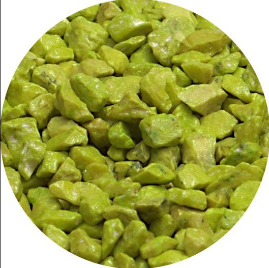 Dekogranulat / Dekosteine 2,5-4 mm apfelgrün im 666ml Stehbeutel
