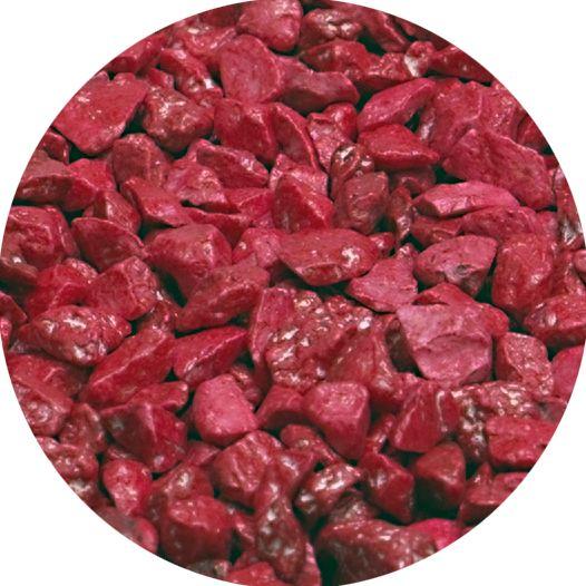 Dekogranulat / Dekosteine 2,5-4 mm rot im 666ml Stehbeutel