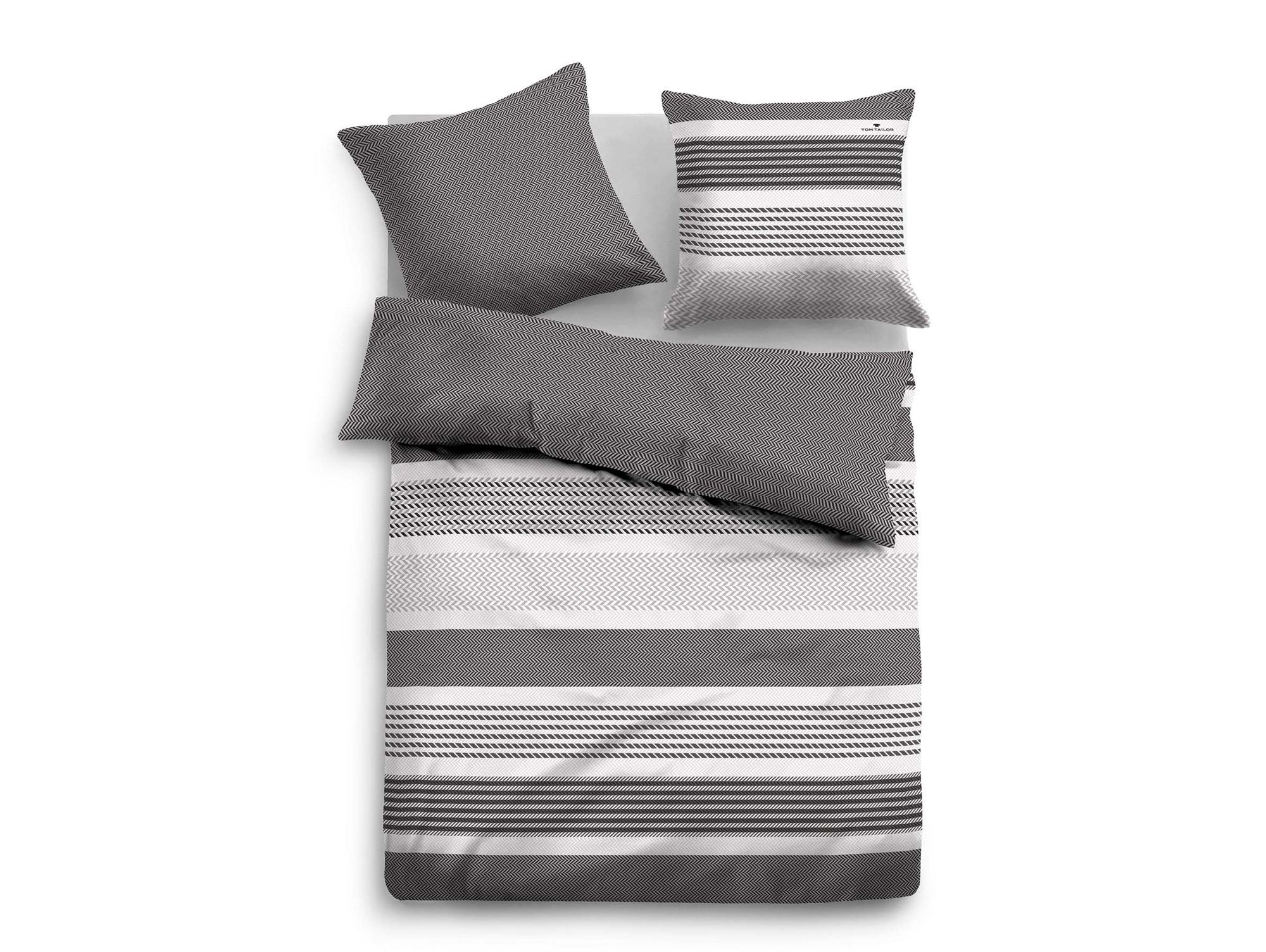 tom tailor bettw sche satin bed linen 135x200 80x80 cm. Black Bedroom Furniture Sets. Home Design Ideas