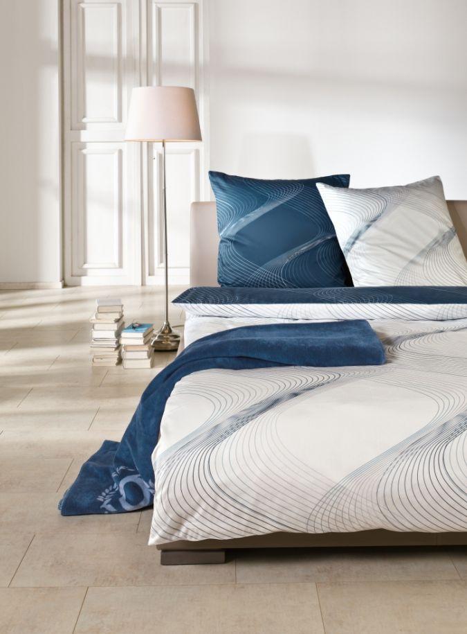 BUGATTI Satin Bettwäsche blau - preiswert kaufen
