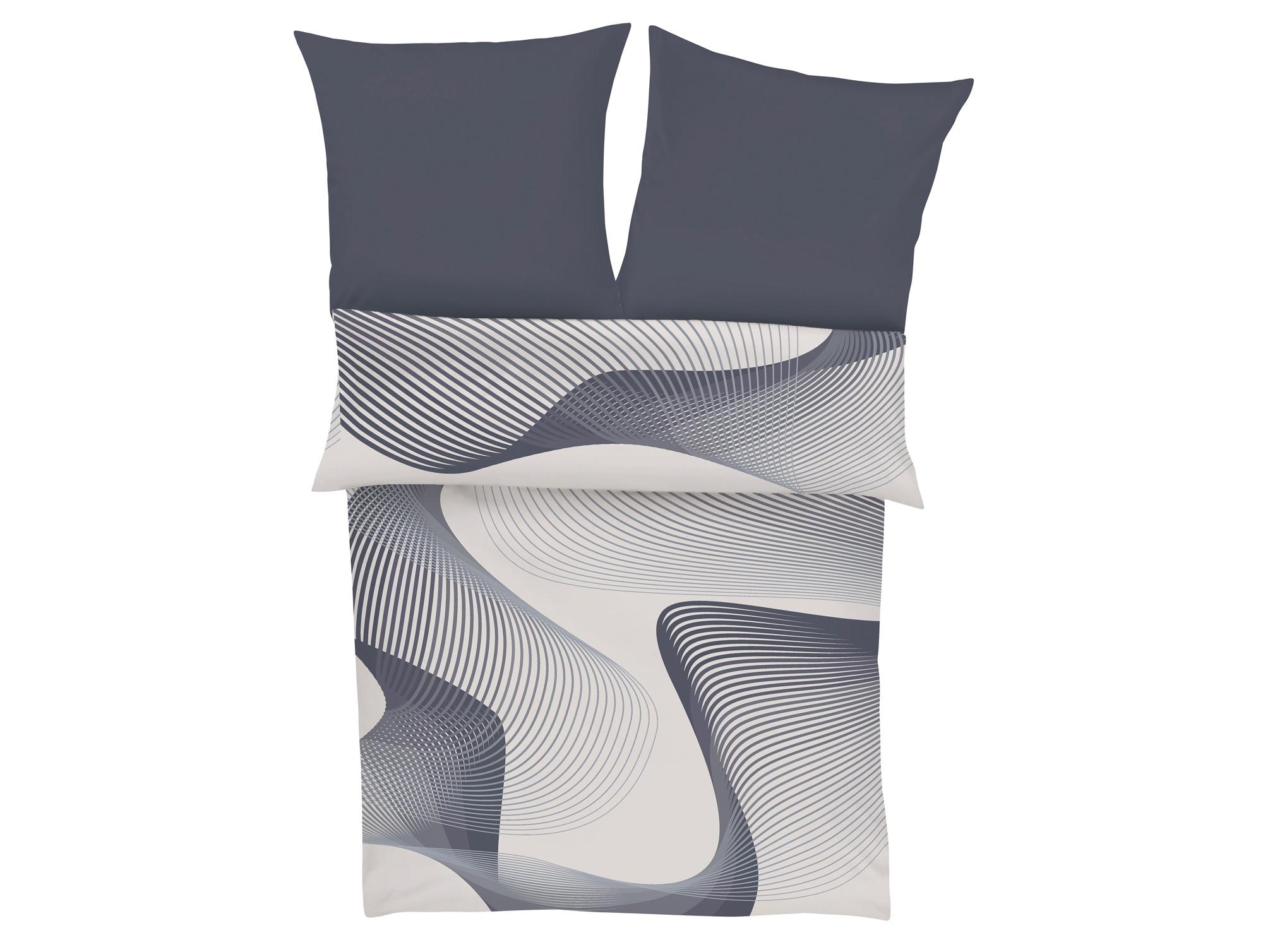 bugatti mako satinbettw sche 135x200 80x80 wei grau. Black Bedroom Furniture Sets. Home Design Ideas