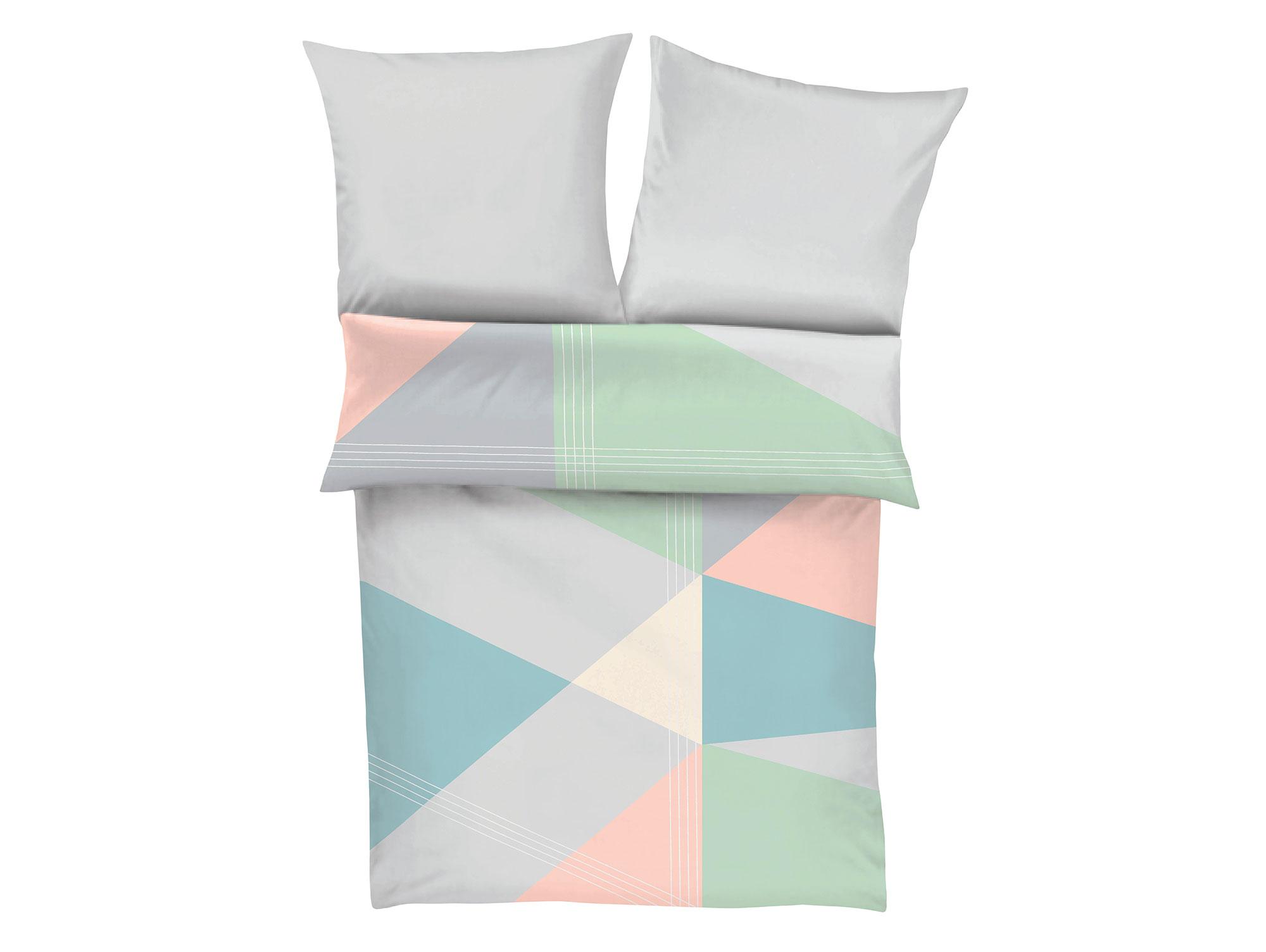 s oliver mako satin bettw sche 135x200 80x80 pastell bunt. Black Bedroom Furniture Sets. Home Design Ideas