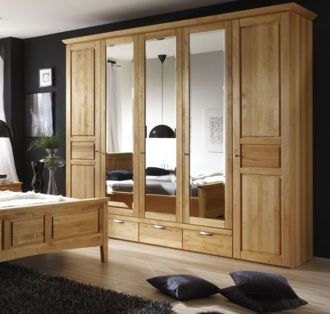 emotion kleiderschrank erle ge lt massiv. Black Bedroom Furniture Sets. Home Design Ideas