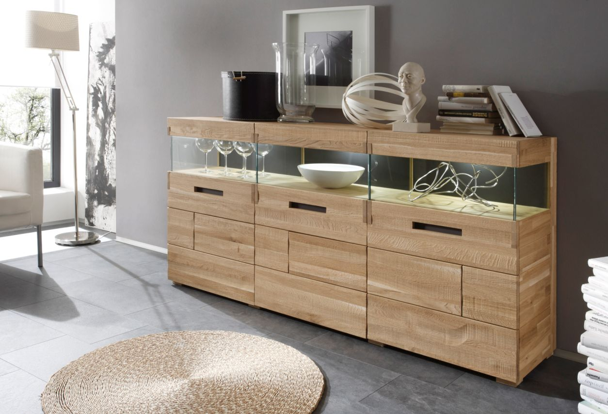 ramon sideboard 3 t ren eiche geb rstet g nstig liefern lassen sch ne m bel. Black Bedroom Furniture Sets. Home Design Ideas