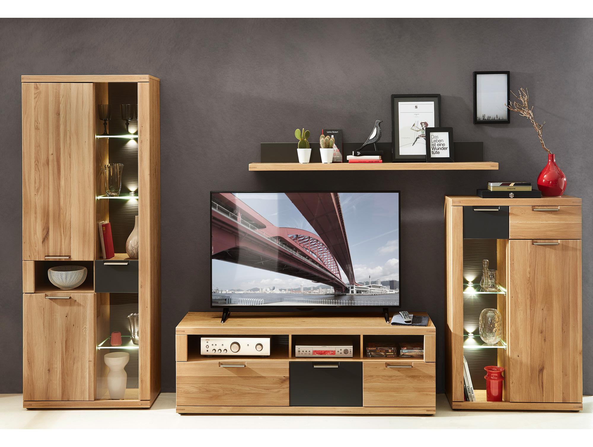 bianca i wohnwand wildeiche massiv. Black Bedroom Furniture Sets. Home Design Ideas