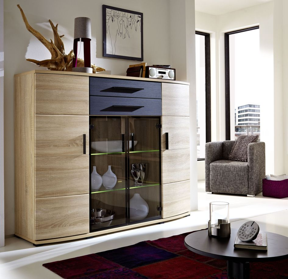 Wohnzimmer highboards z. b. x  p r e s s  highboard esche grau ...