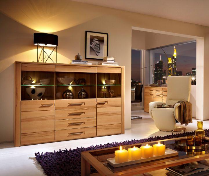 nestor plus highboard kernbuche lackiert, Wohnzimmer